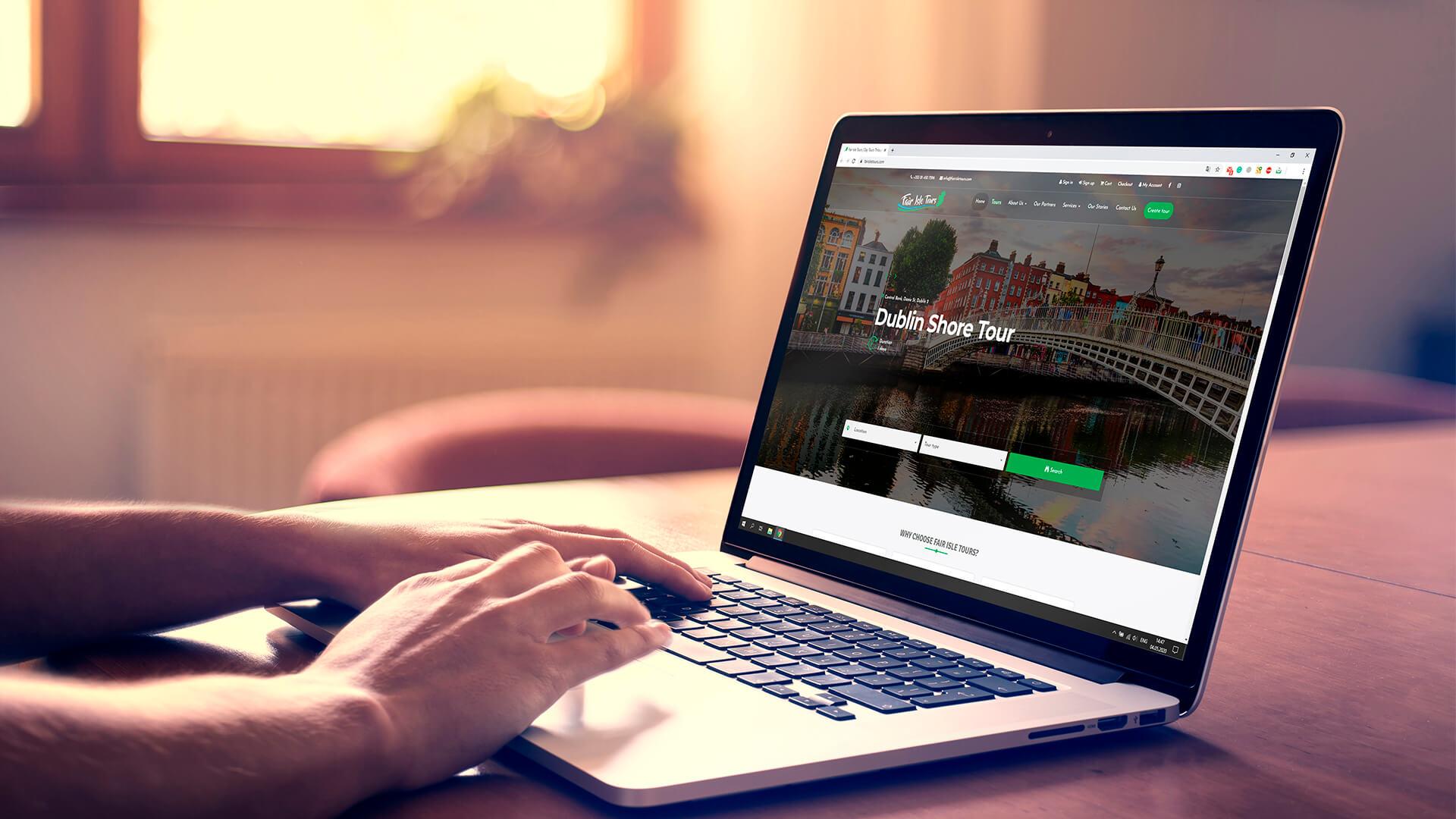 fair isle tours web development
